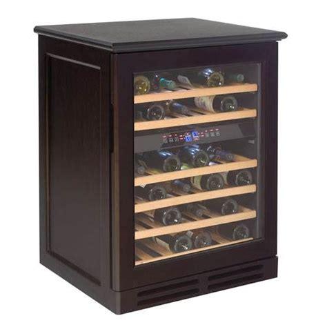 avanti 46 bottle dual zone wood cabinet wine cooler espresso