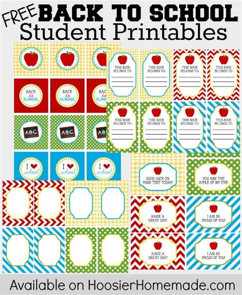 Back To School Printables For Teachers And Students  Hoosier Homemade