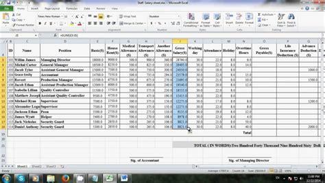 Microsoft Excel Worksheet Spreadsheets
