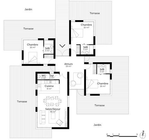 plan maison contemporaine 120 m 178 ooreka