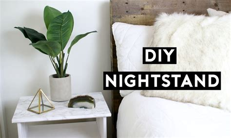 Diy Marble Nightstand Affordable Room Decor Simple Ikea Hack On Mirror Nightstands Cheap Kenmore Elite Dishwasher Dual Drawer Canwood Trundle Storage In Steak Knife Metal Rear Slide Socket Homebase 6 Unit Kitchen Island All Drawers Diy Train Table With 4 Fabric Cart Black