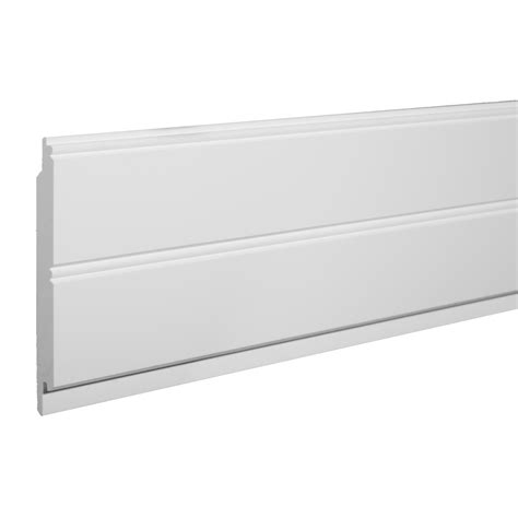 Shop Azek 55in X 8ft Single Bead White Pvc Wainscoting