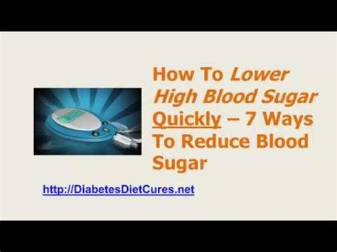 How To Lower High Blood Sugar Fast  7 Ways To Reduce