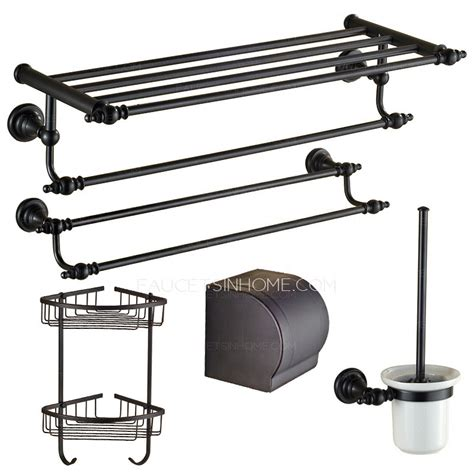 european style rubbed bronze 5 bathroom accessory sets