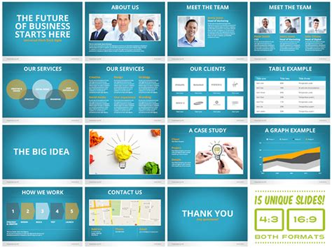universal pitch deck eight powerpoint template on behance