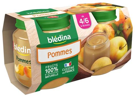 bledina mon 1er petit pot 2x130g pommes d 232 s 4 6 mois bl 233 dina
