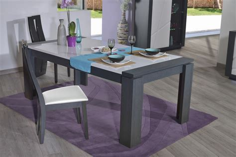 table de salle a manger moderne avec rallonge cuisine naturelle