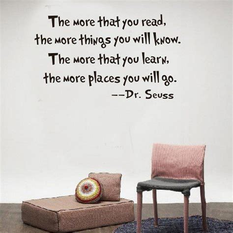 inspirational dr seuss quotes wall stickers removable decal home decor the more that you read