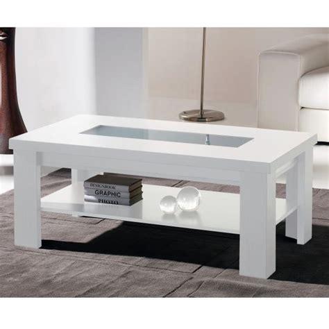 table de salon blanc laque chaios