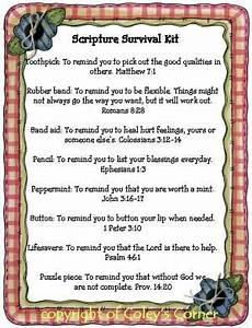 Coley's Corner: Scripture Survival Kit | Crafts ...
