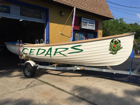 Boat Lettering Ocean County Nj by Typestries Sign Digital Small Business Branding Signs