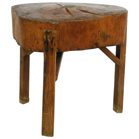 American Rustic Butcher Block Table For Sale At 1stdibs