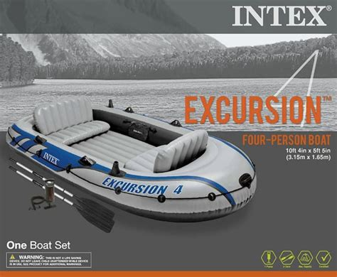 Intex Inflatable Boat Review by Intex Excursion 4 Review Inflatable Boater