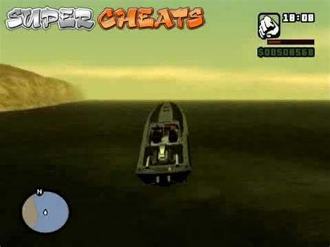 Cheat Code For Boat In Gta San Andreas by Gta San Andreas Flying Boat Cheat Youtube