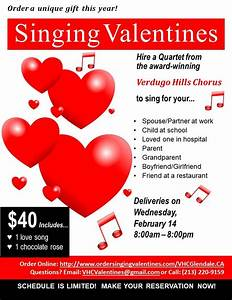 Singing Valentines - Feb 14, 2018 | Verdugo Hills Chorus