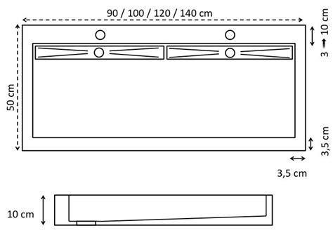 vasques largeur 100 vasque suspendue ou 224 poser largeur 100 cm en r 233 sine cover noir