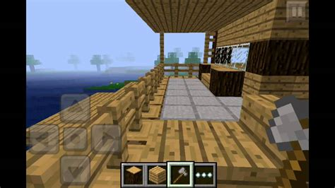 minecraft pe wooden house design