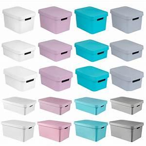 Boxen Zur Aufbewahrung : aufbewahrungsbox deckel curver ordnung aufbewahrung box 4 5 11 17 30 45 liter ebay ~ Markanthonyermac.com Haus und Dekorationen