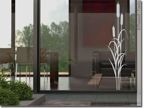 Glasdekor Schilfgras Pflanzen Aufkleber fürs Fenster