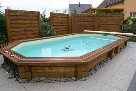 construire piscine bois semi enterr 233 e