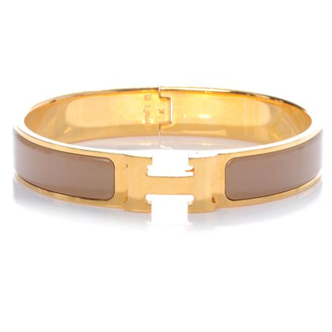 hermes narrow enamel clic clac h bracelet pm poudre 45021