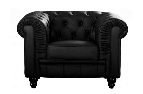 fauteuil chesterfield simili cuir noir fauteuils