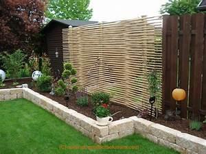 Kleiner Gartenzaun Holz : bildergallery bambus sichtschutz ~ Whattoseeinmadrid.com Haus und Dekorationen