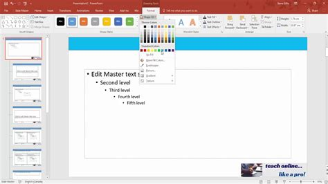 How To Create A Master Slide In Powerpoint Youtube