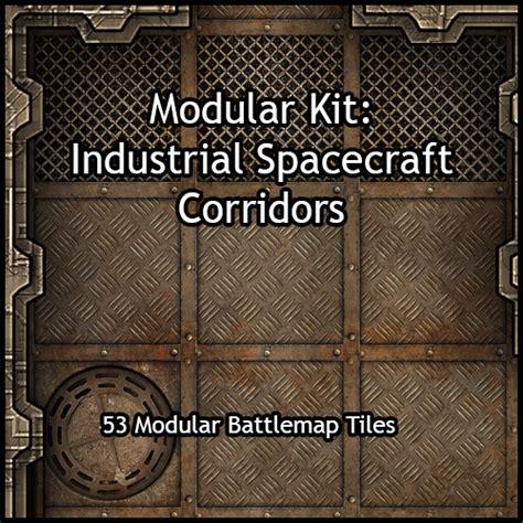 heroic maps modular kit industrial spacecraft corridors