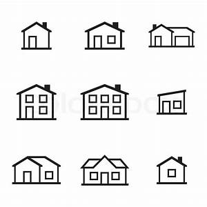 Icon Haus Preise : vektor schwarz h user icons set stock vektor colourbox ~ Markanthonyermac.com Haus und Dekorationen