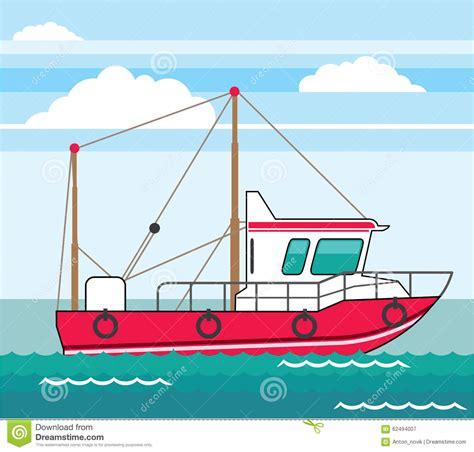 Fishing Boat Art by Fishing Boat Vector Eps Stock Vector Illustration Of