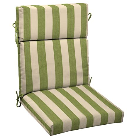 shop allen roth merrill stripe cilantro standard patio chair cushion at lowes