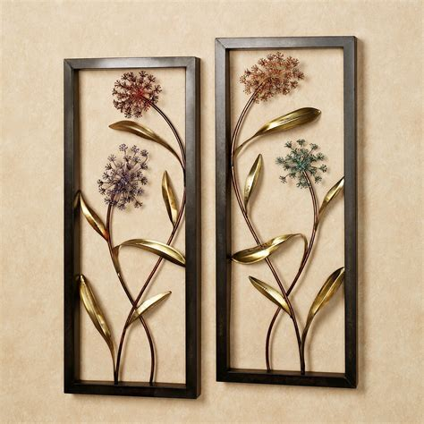 summer scents metal wall panel set