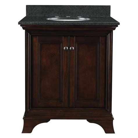 shop allen roth eastcott auburn undermount single sink bathroom vanity with granite top