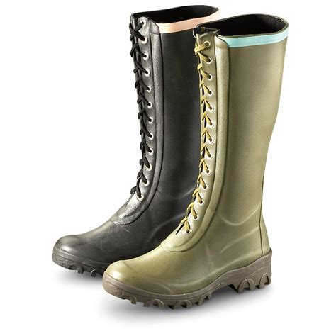 Rubber Boot With Laces women s tretorn 174 lace up rubber boots 180125 rubber