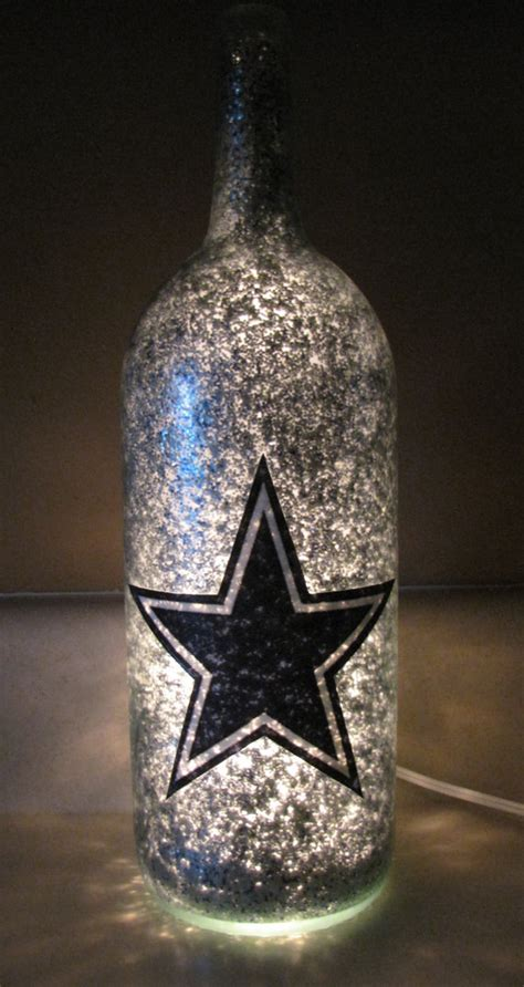 football team decorative lighted wine bottle by uniquewinebottles 20 00 great gift idea
