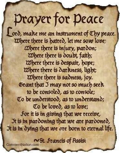 prayer for peace st francis of assisi i admire
