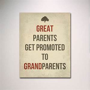 Typography / Great Parents Get Promoted to Grandparents Poster