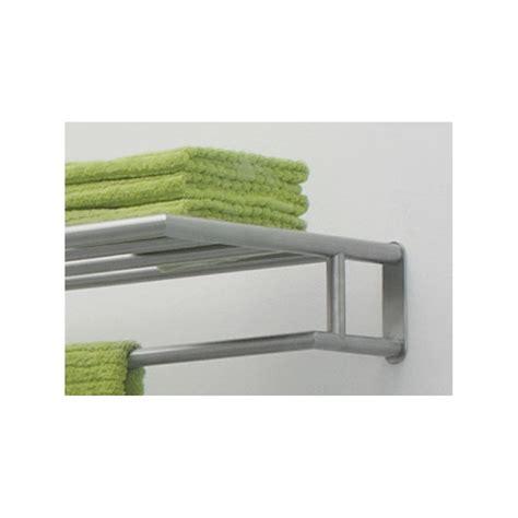 tablette et porte serviette angle salle de bain