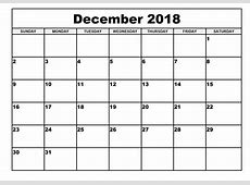 Kalender 2018 November – December Template Calendar