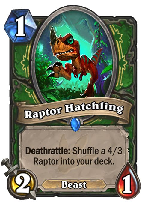 raptor hatchling hearthstone card