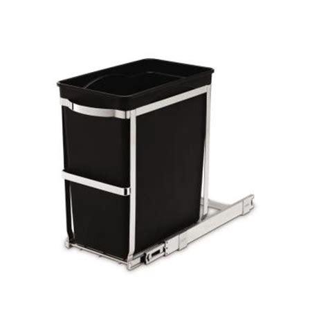 simplehuman 6 8 gallon black rectangular commercial grade