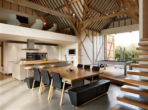 eco barn conversion contemporary dining room cheshire by bulthaup by kitchen architecture