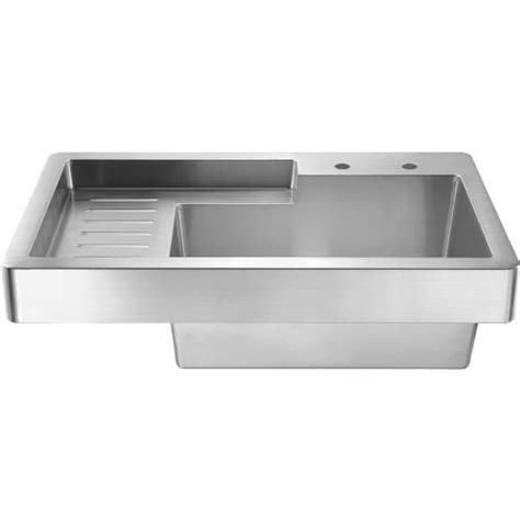 whitehaus pearlhaus 33 utility sink with drainboard