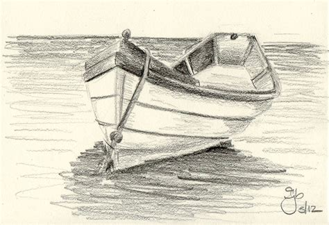 Cartoon Drawing Of A Boat by Boat On Water 4x6 Pencil Study Pinterest Boating