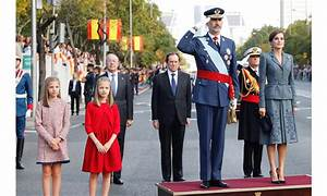 Queen Letizia and King Felipe at Spain's National Day parade