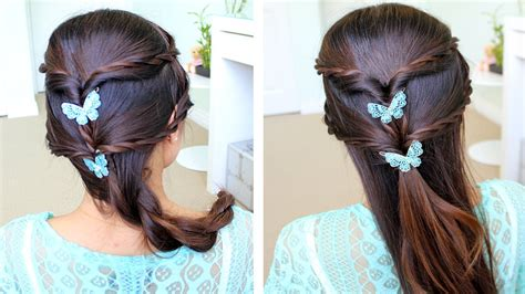 Fancy Rope Braid Half-updo Hairstyle For Medium Long Hair Tutorial Dark Hair To Light Highlights On Indian Skin Care Kerasys Ombre Asian Silver Haired Yogi Trends June 2015 Bridesmaid Options Mens Hairstyle For Thin Straight