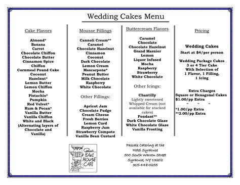 cake flavors list wedding cake flavors with wedding cake flavors step by