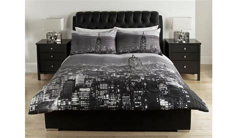 George Home Charcoal Photographic Skyline Duvet Set Teal Velvet Ready Made Curtains For Log Cabin Homes Dunelm Curtain Wire Kit That Roll Up And Down Hidden Track Detail Chester Cheetah On Fire How To Make Porch Diy Rod Brackets