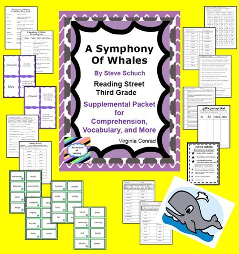 A Symphony Of Whalessupplemental Packetreading Street Third Grade  Comprehension, Reading